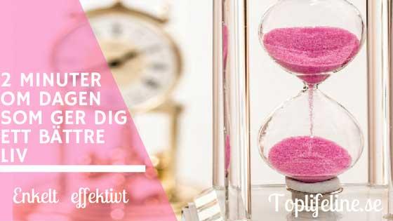 2-minuter-om-dagen klocka och timmglas