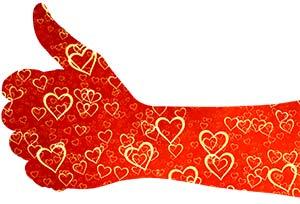 Hand-med-hjärtan Attraktionslagen övningar