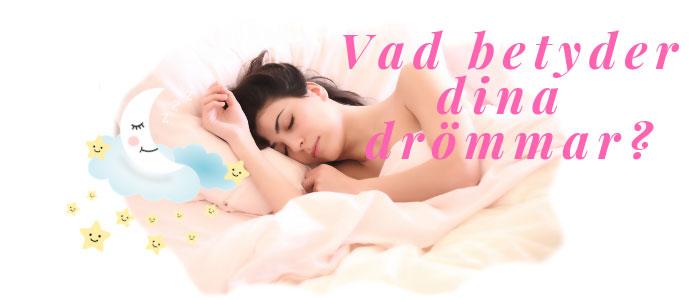Drömtydning- sovande kvinna