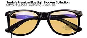 Blått ljus glasögon