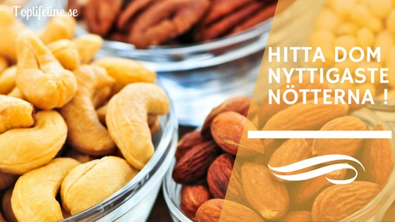 Nyttigaste-nötterna olika nötter